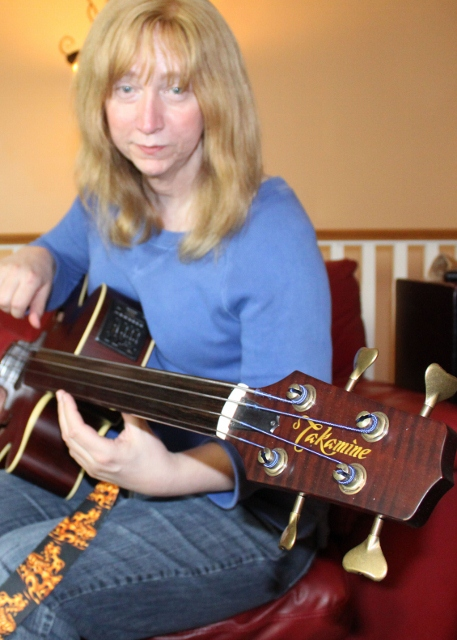 Terri and the Takamine TB-10